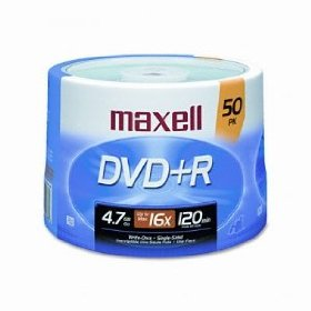 MAXELL  50-Pack DVD+R Recordable DVD (16X)