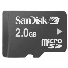SanDisk 2GB MicroSDHC Memory Card for Blackberry Tour, Storm, Bold, Curve 8300 8310 8320 8330 8350i 8900, Pearl 8100 8110 8120 8130, 8800 8820 8830 Smartphone