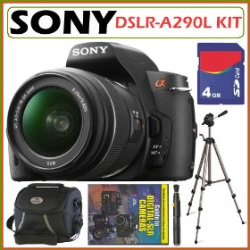 Sony DSLR Alpha DSLR-A290L 14.2MP Digital Camera & 18-55 Lens + 4GB Kit