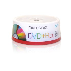 Memorex 8.5GB 8X Double Layer DVD+R (25pk Spindle)