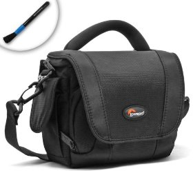 PLUSH Premium Carrying Case for Canon PowerShot SX30IS / SX30 / SX20IS / SX120IS / G11 & Vixia HF S200 / S21 / M31 Camcorders and More! - With Padded Interior, Flexible Divider and Multiple Accessory Pockets to cradle your equipment **Includes Lens Brush