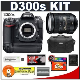 Nikon D300s Digital SLR Camera + 18-200mm VR [Vibration Reduction] II DX Lens + MB-D10 Grip + 16GB Card + EN-EL3e Battery + Case + Cameta Bonus Accessory Kit