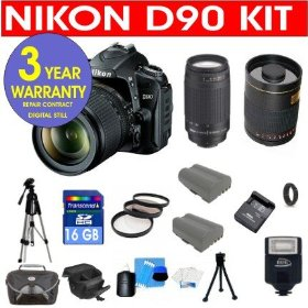 Nikon D90 12.3 MP Digital SLR Camera with Accessory Kit