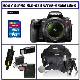 Sony SLT-A33L Alpha DSLR SLTA33 14.2MP Digital Camera with 18-55mm f/3.5-5.6 DT AF Zoom Lens + 14Pc Starter Pack # 2