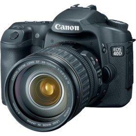 Canon EOS 40D DSLR with 17-85mm lens