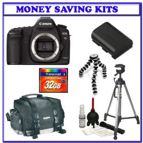 Canon EOS 5D Mark II 21.1MP Full Frame CMOS Digital SLR Camera (Body Only) + Willoughby's 32GB CF Tripod & Gadget Bag Package