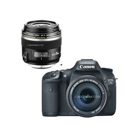 Canon EOS-7D Digital SLR Camera / Lens Kit, with Canon EF-S 18-135mm f/3.5-5.6 IS Auto Focus Lens, and EF-S 60mm f/2.8 Macro USM Lens