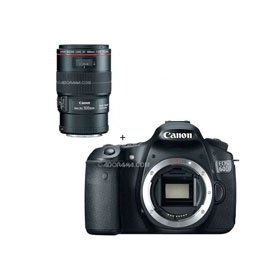 Canon EOS 60D Digital SLR Camera Body, with EF 100mm f/2.8L IS USM Macro Auto Focus Lens