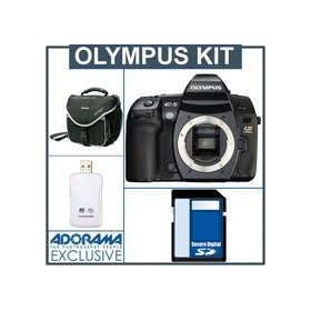 Olympus Evolt E-5 12.3 Megapixel Digital SLR Camera Body Kit, with 8GB SD Memory Card, Camera System Bag, USB 2.0 SD Card Reader