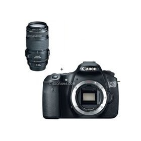 Canon EOS 60D Digital SLR Camera Body, with EF 70-300mm f/4-5.6 IS USM Autofocus Telephoto Zoom Lens