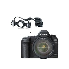 Canon EOS-5D Mark II Digital SLR Camera Body Kit with EF 24-105L IS & MT-24EX, Macro Twin Lite Flash