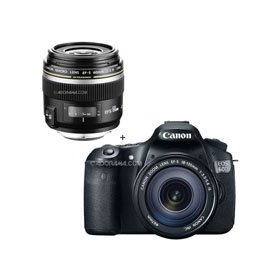 Canon EOS 60D Digital SLR Camera / Lens Kit, With EF 18-135mm f/3.5-5.6 IS USM Lens & EF-S 60mm f/2.8 Compact Macro AutoFocus Lens