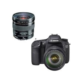 Canon EOS-7D Digital SLR Camera / Lens Kit with EF 28-135mm f/3.5-5.6 IS USM Standard Zoom Lens and Canon EF 20mm f/2.8 USM AutoFocus Ultra Wide Angle Lens