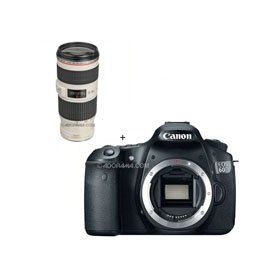 Canon EOS 60D Digital SLR Camera Body, with EF 70-200mm f/4L IS USM Autofocus Telephoto Zoom Lens,