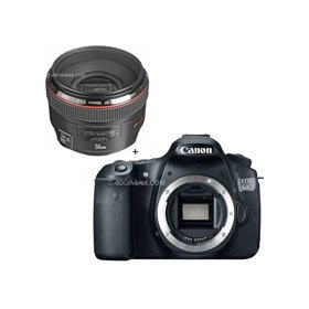 Canon EOS 60D Digital SLR Camera Body, with EF 50mm f/1.2L USM Ultra-Fast Standard AutoFocus Lens