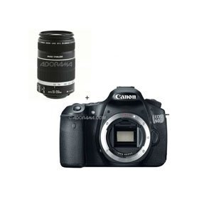 Canon EOS 60D Digital SLR Camera Body, with 55-250mm f/4-5.6 IS Image Stabilizer Telephoto Zoom Lens
