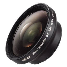 Nikon WC-E68 Wide Angle Converter Lens for Coolpix 4300, 4500, 5000, 700, 800, 880, 885, 900, 950, 990, and 995 Digital Cameras (#25105)