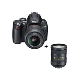 Nikon D5000 Digital SLR Camera with 18-55mm f/3.5-5.6G ED AF-S DX VR & 18-200 VRII Lens - USA Warranty