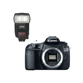 Canon EOS 60D Digital SLR Camera Body, with Speedlite 580EX II