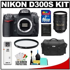 Nikon D300s Digital SLR Camera Body and Nikon 28-300mm f/3.5-5.6 G VR AF-S ED Zoom-Nikkor Lens with 16GB Card + Case + Accessory Cleaning Kit