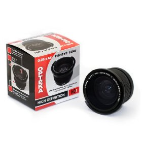Opteka .35x High Definition� Super Wide Angle Panoramic Macro Fisheye Lens for Kodak EasyShare Z612, Z712, Z812, Z1012, & Z8612 IS Digital Camera