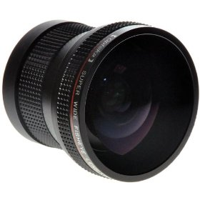 Opteka HD� 0.20X Professional Super AF Fisheye Lens for Canon VIXIA HV30, HG10, & HV20 Digital Camcorders