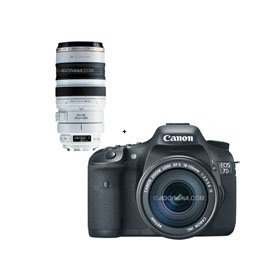 Canon EOS-7D Digital SLR Camera / Lens Kit, with Canon EF-S 18-135mm f/3.5-5.6 IS Auto Focus Lens, and EF 100-400mm f/4.5-5.6L IS USM