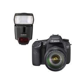 Canon EOS-7D Digital SLR Camera / Lens Kit with EF 28-135mm f/3.5-5.6 IS USM Standard Zoom Lens and Speedlite 430EX II