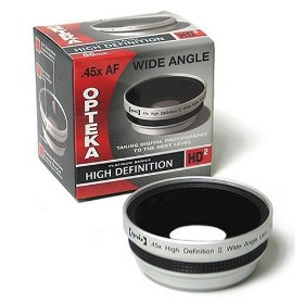 Opteka .45x High Definition� Wide Angle Lens for Canon PowerShot A570 A590 IS Digital Camera