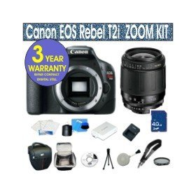 Canon Rebel T2i 18 MP Digital SLR Camera with Tamron 28-80mm Zoom Lens + UV Filter + 4 GIG Memory Card + Holster Case + 6 Piece Starter Kit + 3 Year Celltime Warranty Repair Package