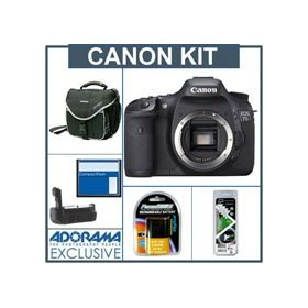 Canon EOS-7D Digital SLR Camera Body Kit, with 8GB CF Memory Card, Spare LP-E6 Type Battery, Slinger Camera Bag, Flashpoint Professional Battery Grip, Visible Dust EZ Sensor Cleaning Kit