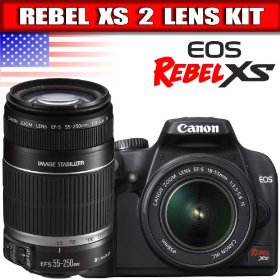 Canon Rebel XS 10.1MP Digital SLR Camera with EF-S 18-55mm f/3.5-5.6 IS Lens + Canon EF 75-300mm f/4-5.6 III Telephoto Zoom Lens for Canon SLR Cameras