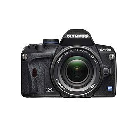 Olympus E-420 10.0 Megapixel Digital SLR Camera with 14mm - 42mm f/3.5-f/5.6 Zuiko Digital Zoom Lens - Refurbished by Olympus U.S.A.