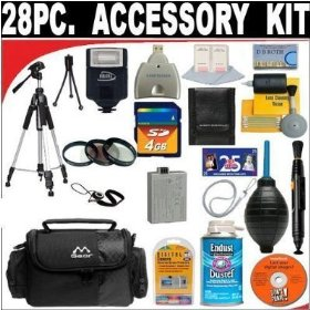 28 Pc Ultimate Super Savings Deluxe DB ROTH Accessory Kit For The Canon Digital Rebel XSI 12MP Digital SLR Camera