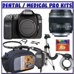Canon EOS 50D 15.1 MP Digital SLR + Canon EF-S 60mm f/2.8 Macro USM Lens + Canon MR-14EX Macro Ring Lite + 8GB CF + Dental/Medical Package