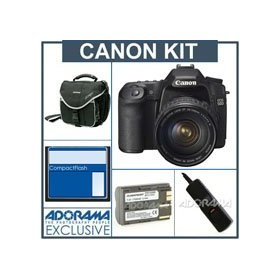 Canon EOS 50D Digital SLR Camera /Lens Kit, Black with EF 28-135mm f/3.5-5.6 IS USM Standard Zoom Lens - Refurbished - 8GB CF Memory Card, Spare BP-511 Lithium-Ion Battery, Slinger Camera Bag, Digital Remote Release