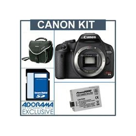 Canon EOS Digital Rebel T1i SLR Camera Body KIT, U.S.A. Warranty - Black Finish - with 4GB SD Memory Card, Spare LP-E5 Lithium-Ion Rechargeable Battery, Slinger Camera Bag