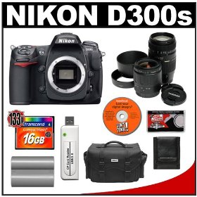 Nikon D300s Digital SLR Camera with Tamron 28-80mm Zoom Lens + Tamron 70-300mm Di LD Macro Zoom Lens + 16GB Card + EN-EL3 Battery + Case + Cameta Bonus Accessory Kit