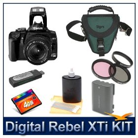 Digital Rebel XTi (Black) with EF-S 18-55mm II - Pro Photo Enthusiast Kit