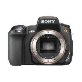 Sony a (alpha) DSLR-A350 - Digital camera - SLR - 14.2 Mpix - body only - supported memory: CF, Microdrive