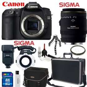 Canon EOS 50D 15.1MP Digital SLR Camera (Body Only) + Sigma 70mm F/2.8 EX DG Macro Lens + Sigma Flash Macro Ring EM-140 DG + Willoughby's Dental/Medical Accessory Package