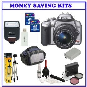 Canon EOS Rebel XSi (a.k.a. 450D) SLR Digital Camera Kit (Silver) with 18-55mm IS Lens + Willoughby's Two (2) 8GB Travelers Package