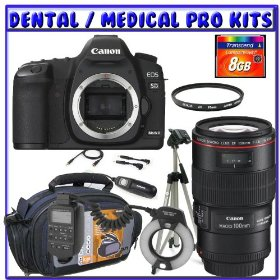 Canon EOS 5D Mark II Digital Camera (Camera Body) + Canon EF 100mm f/2.8L IS USM Macro Lens + Canon MR-14EX Macro Ring Lite + 8GB CF + Tripod + Case + Remote + Dental/Medical Pro Bundle