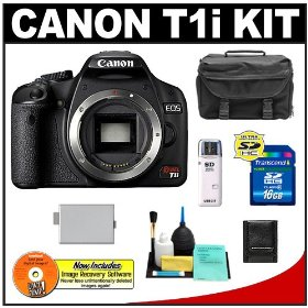 Canon EOS Rebel T1i Digital SLR Camera Body + 16GB Card + LP-E5 Battery + Case + Cameta Bonus Accessory Kit