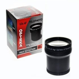 Opteka 3.3x High Definition II Telephoto Lens Converter for 52mm, 55mm, & 58mm Digital Camera Lenses