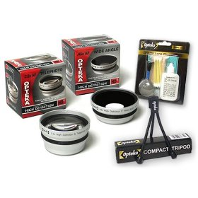 Opteka .45x Wide Angle & 2.2x Telephoto HD� Lens Set for Olympus SP-510 SP-500 C-770 C-765 C-750