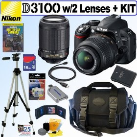 Nikon D3100 14.2MP Digital SLR Camera with 18-55mm f/3.5-5.6G AF-S DX