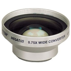 Tiffen MegaPlus Digital Camera/Video Wide Angle Lens 0.75x (43mm mounting thread)