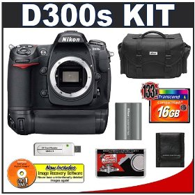 Nikon D300s Digital SLR Camera + MB-D10 Grip + 16GB Card + EN-EL3e Battery + Case + Cameta Bonus Accessory Kit