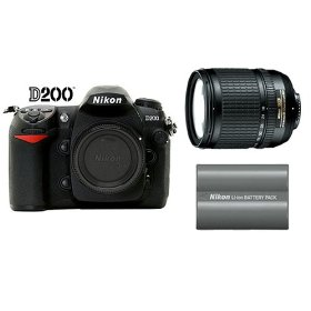 Nikon D200 10.2MP Digital SLR Camera + Nikon 18-135mm AF-S Lens + Extra Nikon EN-EL3e Battery